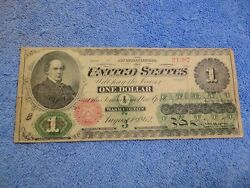 1862 1 Legal Tender Note Fr. 16 Nice Note At Great Price Take A Look