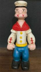 Popeye Piggy Bank 30s-40s Steel Antique Doll Vintage From Japan