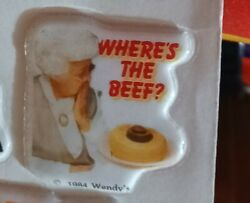 Vintage 1980s Wendy's Where's The Beef Stickers You Choose