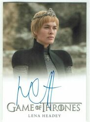 Game Of Thrones Inflexions Auto Autograph Card Lena Headey As Cersei Lannister