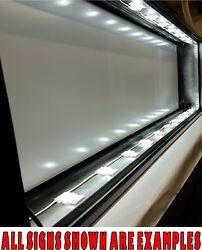 Box Sign 2' X 3' Led Lit, Do It Yourself Frame Kit For Business / Residential