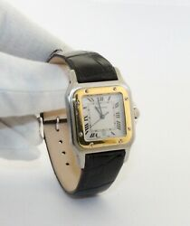 Santos Two Tone 18k Gold And Stainless Steel 29mm Watch W/ Original Band