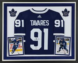 John Tavares Toronto Maple Leafs Deluxe Frmd Signed Blue Adidas Authentic Jersey