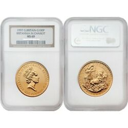 Great Britain 1997 Britannia In Chariot 100 Pounds Gold Coin Ngc Ms69 Sku 1774