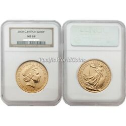 Great Britain 2000 Britannia 100 Pounds Gold Coin Ngc Ms69 Sku 1772
