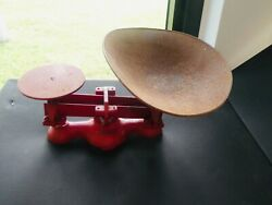 Antique Red Jacobs Detecto Store Scale New York