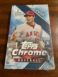 2018 Topps Chrome Hobby Box Factory Sealed New 2 Autos Possible Ohtani Rc Mint