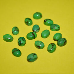 100pcs Natural Green Copper Turquoise 18x25mm Oval Cabochon Loose Gemstone