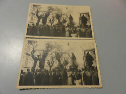CP Card Vintage Napoli Procession Mantis Animated Never Shipped Years#x27; 50