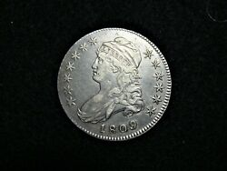 1809 Capped Bust Silver Half Dollar Lettered Edge