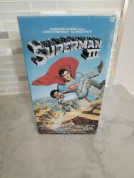 Superman Iii 3 A Very Rare Factory Sealed Vhs Warner Brothers Watermark
