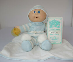 1986 Cabbage Patch Kid Babies Baby Bbb Bean Butt Hm4 Blue Eyes Pacifier