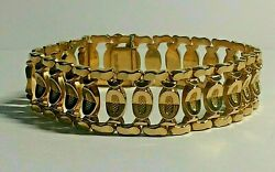 Heavy 18ct Gold Bar Link Ladies 7.1/2.inches Long Bracelet 28grams
