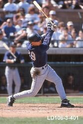Jay Buhner - 1996-99 Seattle Mariners - Two 35mm Color Slides - Ld106-3-401/402