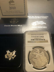 2010 Boy Scouts Silver 1 Ngc Pf70💥flawless Quality💥orig Us Mint Display Box