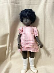 Sasha Doll Cora African American Girl Doll Made In England 70s Vintage Doll