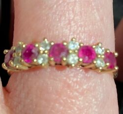 Diamond And Ruby Ring 14kt Yellow Gold Ring