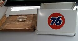 Vintage Nos Union 76 Gas Station Truck Stop Tire Holder Display Stand 2 Signs