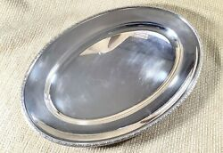 Christofle Silver Plated Serving Platter Tray Large Oval Old French Silverware