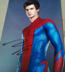 The Amazing Spider-man 2 Signed Andrew Garfield 8x10 Photo And Spiderman Figure