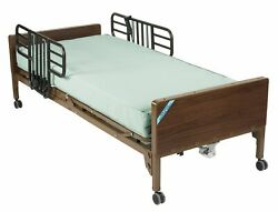 Drive Medical 15004bv-pkg-1 Semi Electric Hospital Bed With Half Rails And Inner