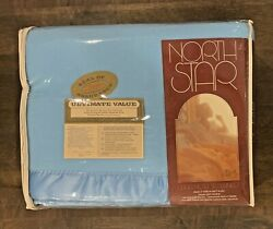 Vintage Chatham North Star Ultra Meteor Blue Blanket 72x90in Acrilan Acrylic Usa