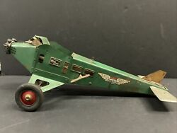 American Flyer A-f Line Air Service Model 560 Pressed Steel Wind Up Toy Airplane