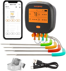 Inkbird Wifi Grill Thermometer, Wireless Bbq Thermometer For Grilling Roasting 4