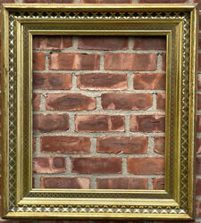 Spectacular Circa 1870 American Deep Cove Stenciled Lemon Gilded Picture Frame