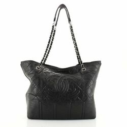 Shopping In Moscow Tote Quilted Distressed Leather Large