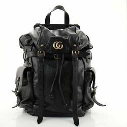 Gg Marmont Multipocket Backpack Leather Large