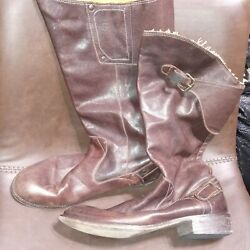 Diesel Brown Mid Calf Leather Boots 39