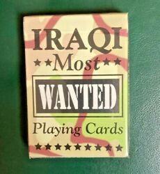 Iraqi Most Wanted Playing Cards Sealed Box Hoyle Products Made Usa Historic Deck