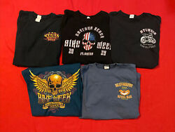 Harley Davidson Event T-shirts Menand039s Extra Large Lot Of 5