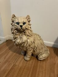 Persian Cat 1960's Vintage Larger Than Life Size Statue