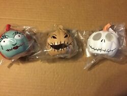 New Nightmare Before Christmas Sally Oogie Boogie And Jack Light Up Mini Pumpkins