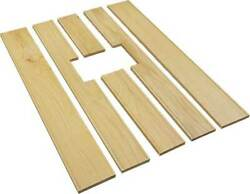 Macs Auto Parts Model A Ford Pickup Bed Floor Wood Strip Kit - 6 Pieces - For