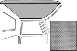 Macs Auto Parts 1973-79 Ford Pickup F100-f350 Truck Headliner Gray Perforated