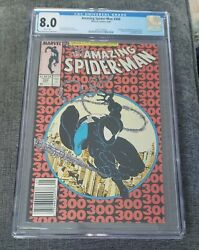 Amazing Spiderman 300 Cgc 8.0 Newsstand Copy White Pages First App Of Venom 🔥🔥