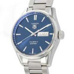 Tag Heuer Carrera Caliber 5 Day-date 41mm Stainless Steel Blue Dial War201e....