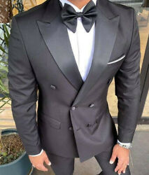 Designer Two Rows Of Buttons Tuxedo Wedding Suit Menand039s Suits Suit Fitted Slim
