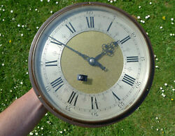 Bronze Matted Brass Dial Synchronome Vintage Industrial Factory Wall Slave Clock