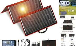 300w 18v Portable Solar Panel Kit 41x21inch Folding Solar Charger With 2