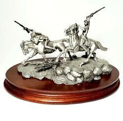 Chilmark Polland 1992 Fine Pewter Statue 10 Strong Hearts To The Front 1221 Vg