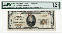 20 1929 T1 National Houston Texas Tx Fancy Repeater Serial Pmg 12 Fine