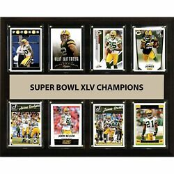 Candi Collectables-nfl 12x15 Green Bay Packers Super Bowl 45 - 8-card Plaque