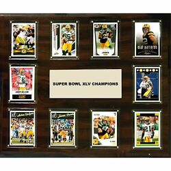 Candi Collectables-nfl 15x18 Green Bay Packers Super Bowl 45 - 10-card Plaque