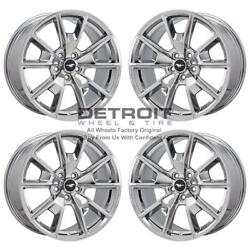 19 Ford Mustang Pvd Bright Chrome-w 4 Wheels Rims Factory Oem 10033 2015-2019