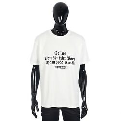 Celine 415 Loose T-shirt With Celine Chambord Print In Cotton Jersey