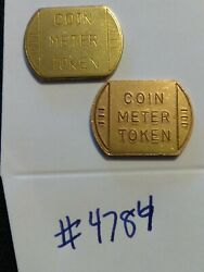 2 Car Wash Tokens Non-round Coin Meter Token - 2 Different Styles